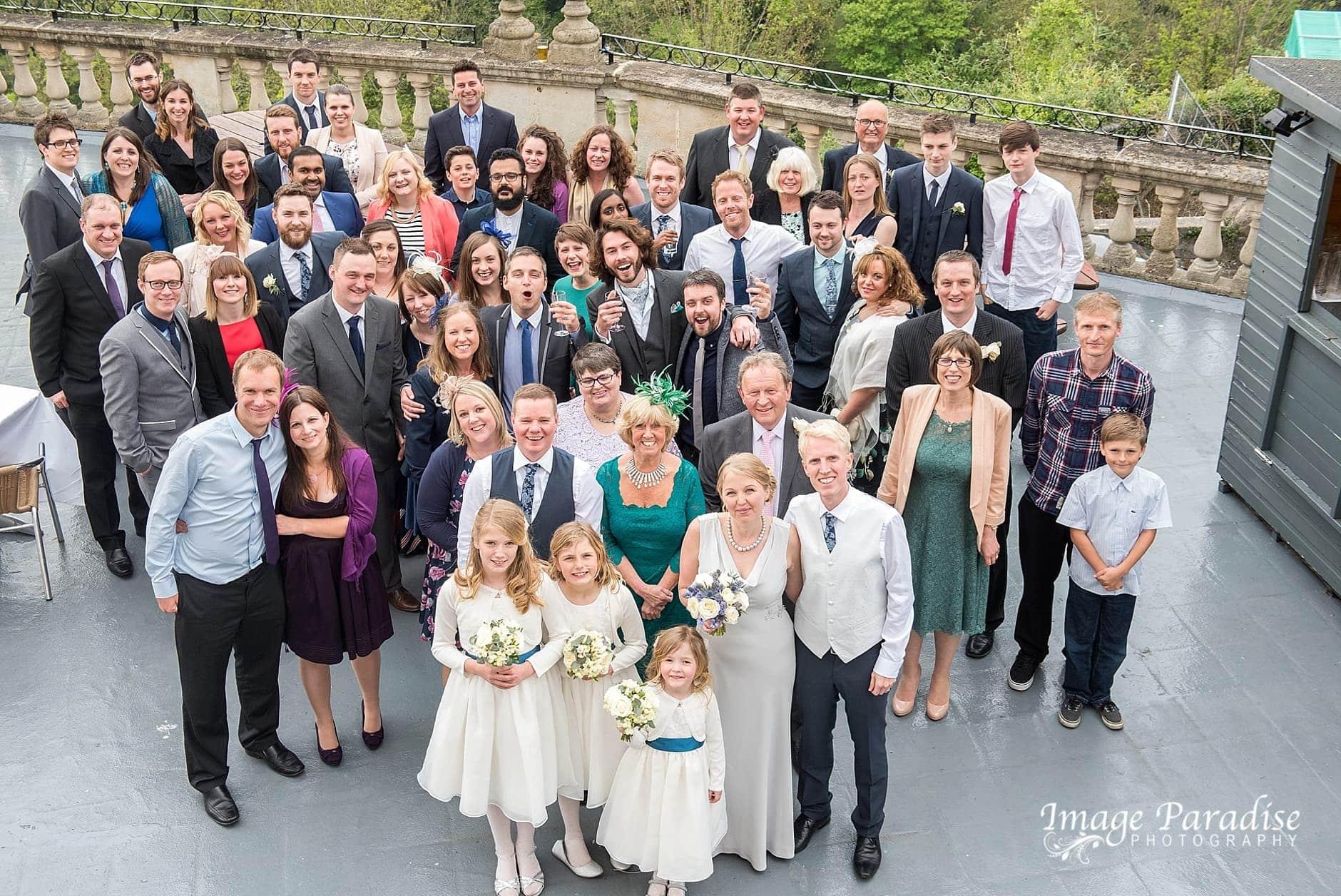 Group wedding photo at Avon Gorge Hotel