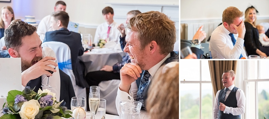 Laughter at wedding speeches at The Avon Gorge hotel