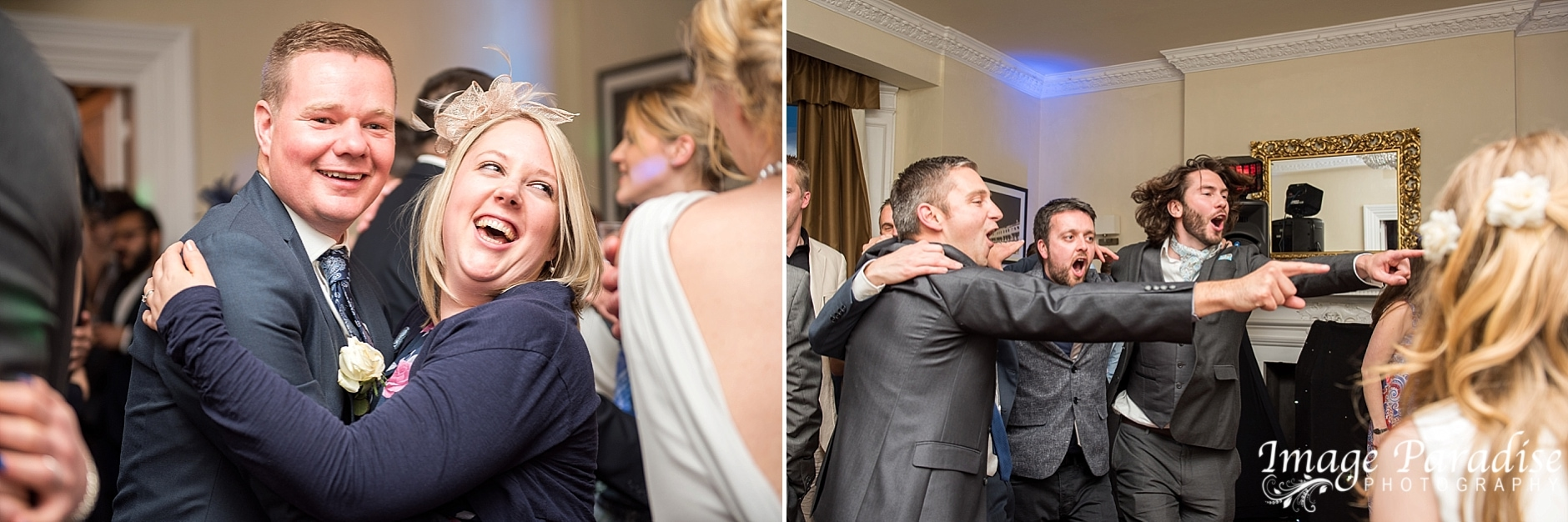 Dancing at reception of Avon Gorge Hotel wedding