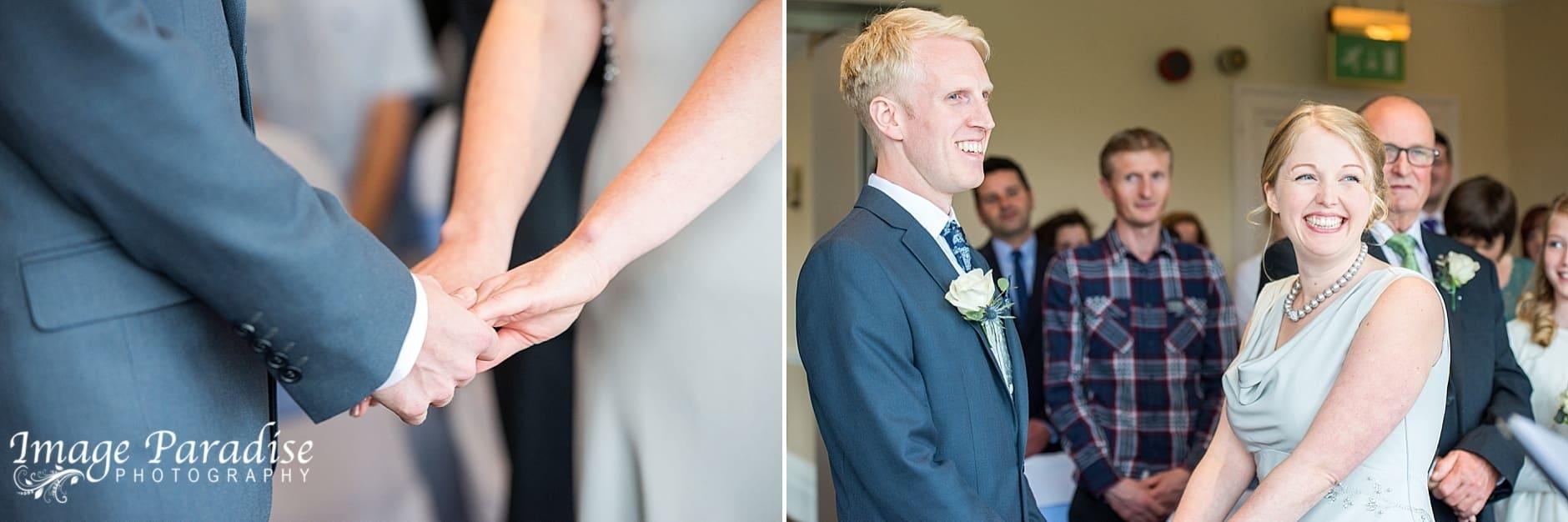 wedding ceremony at the Avon Gorge Hotel