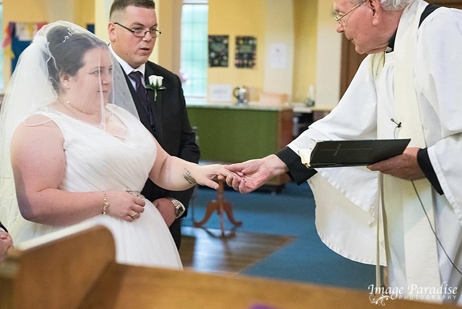 Victor takes Brides hand Christ church Hengrove