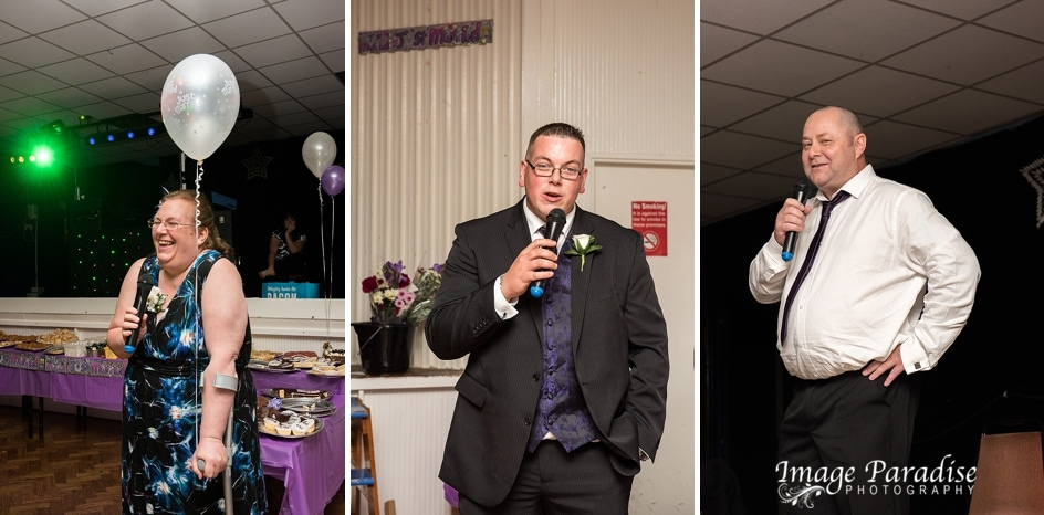 Speeches at Hungerfield Community centre