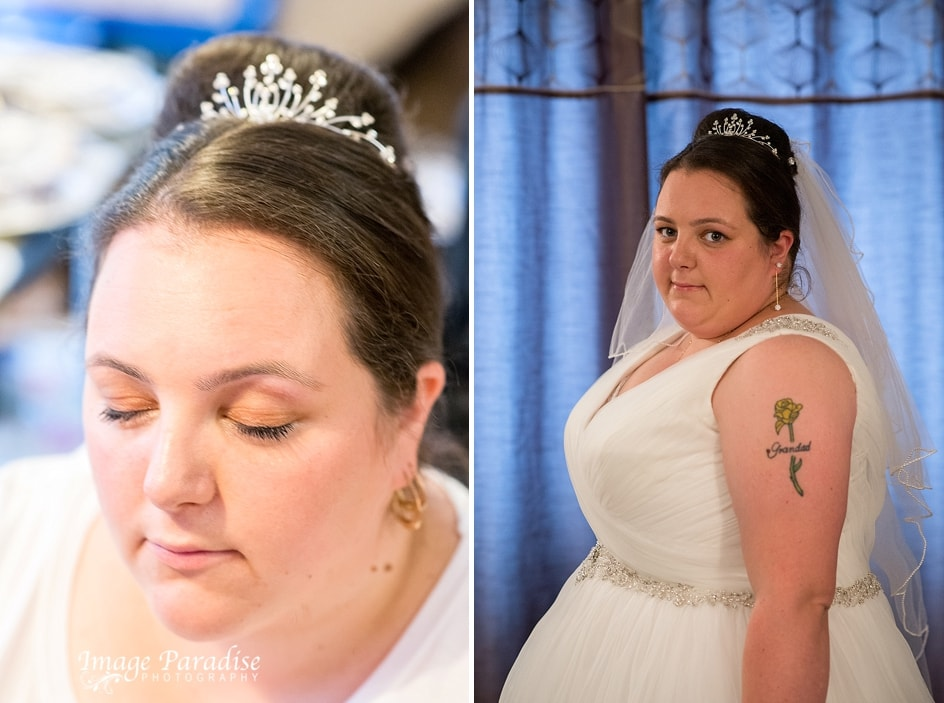 Bride before ceremony Bristol