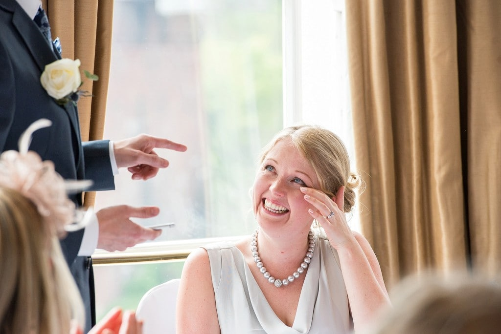 Emotional bride at Avon Gorge Hotel wedding