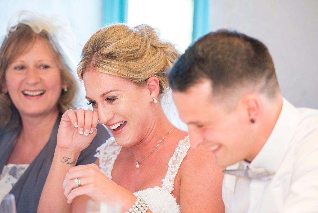 Emotional wedding at Priston mill