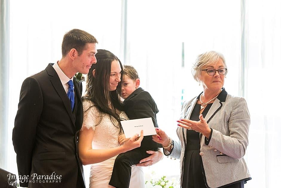 Marriage certificate Hilton Bristol