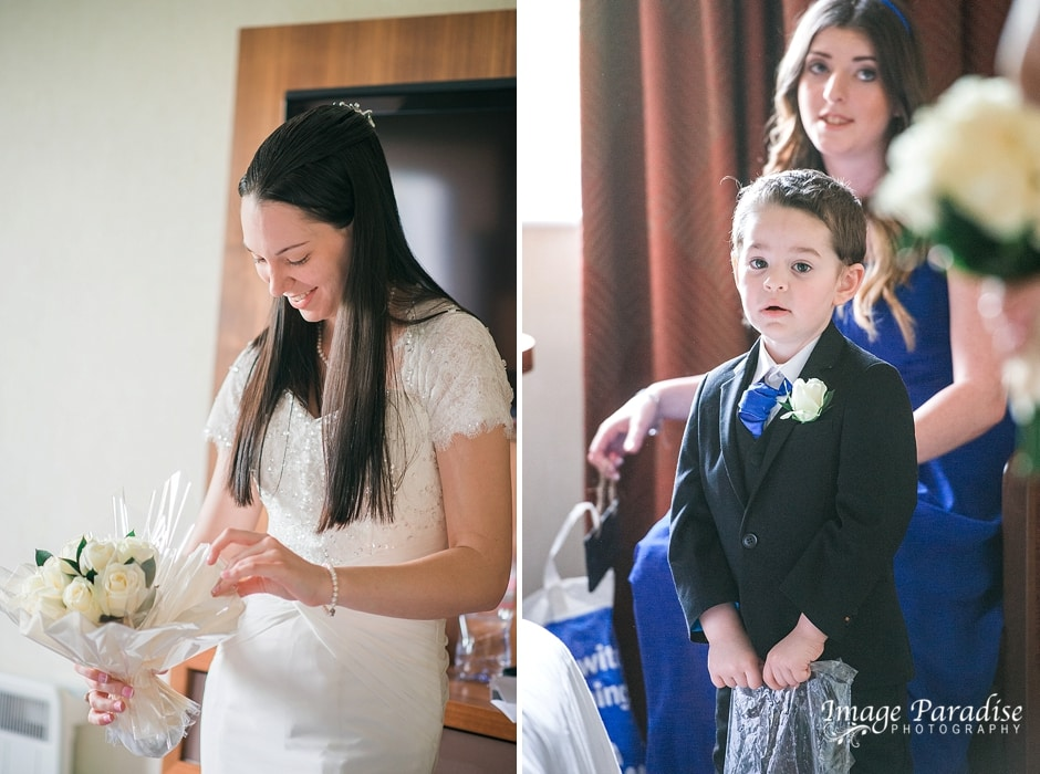 Hilton Bristol Bride & son getting ready