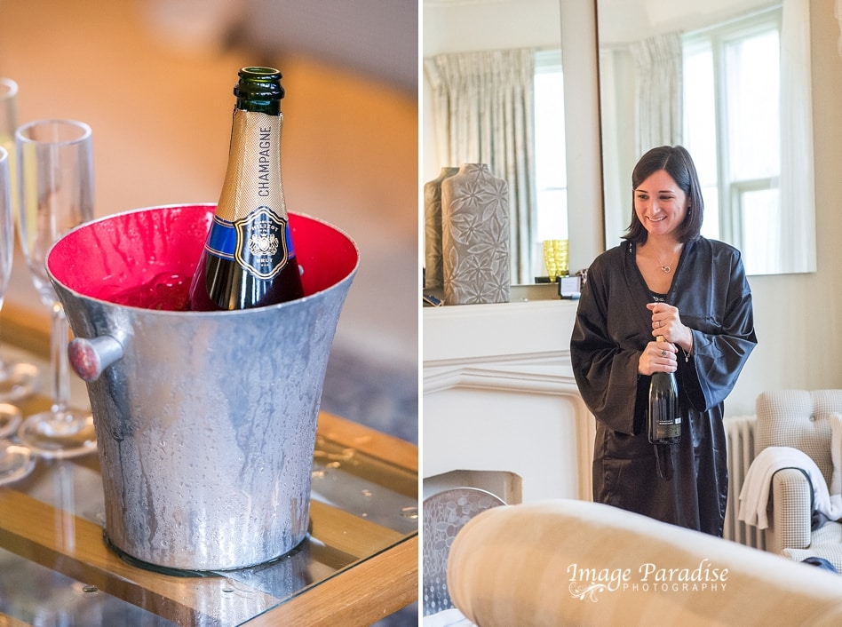 Champagne at Homewood park hotel