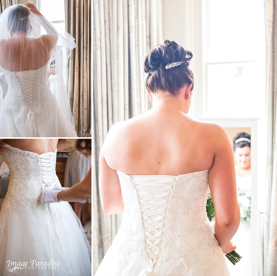 Bride getting ready at Homewood park Hotel