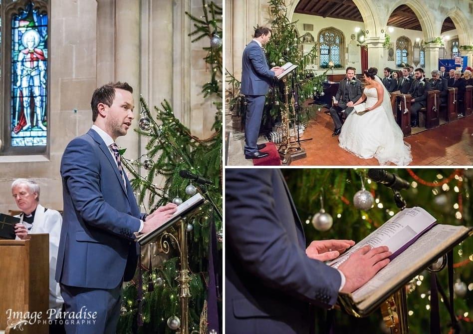 wedding reading St Katherine's church Holt.