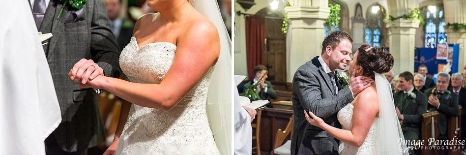 wedding at St Katherines church Holt