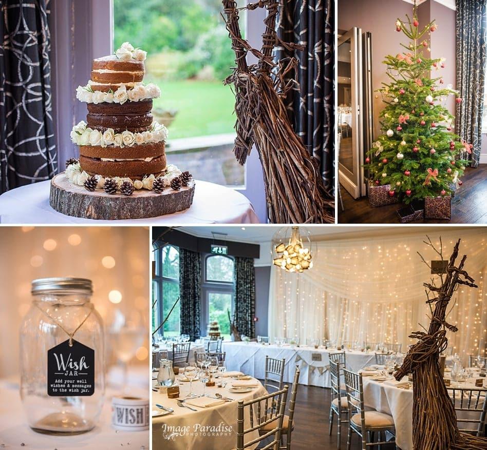 Christmas wedding at Homewood park hotel Bath