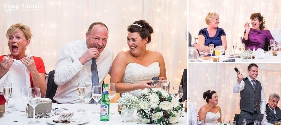 wedding speeches at Homewood park hotel Bath