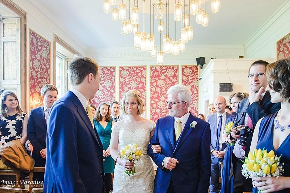 Wedding ceremony at No4 Clifton village Bristol