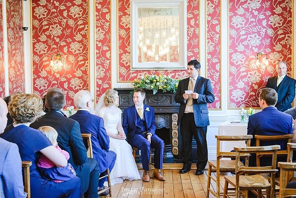wedding reading at No4 Clifton village Bristol