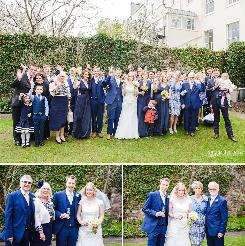 Group wedding photos at No4 Clifton village
