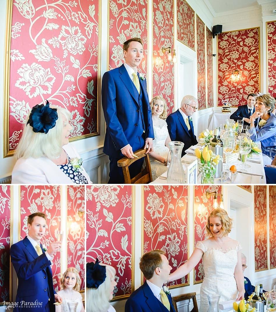 wedding speeches at No4 Clifton village Bristol
