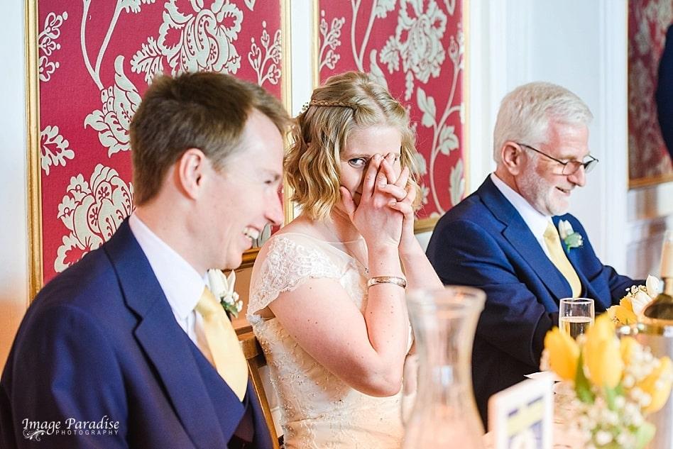 happy bride & groom on wedding day at No4 Clifton village Bristol