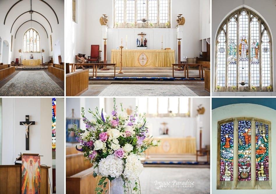 Inside St Cuthbert church Bristol wedding