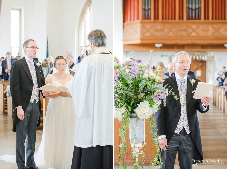 Singing hymns at St Cuthbert church