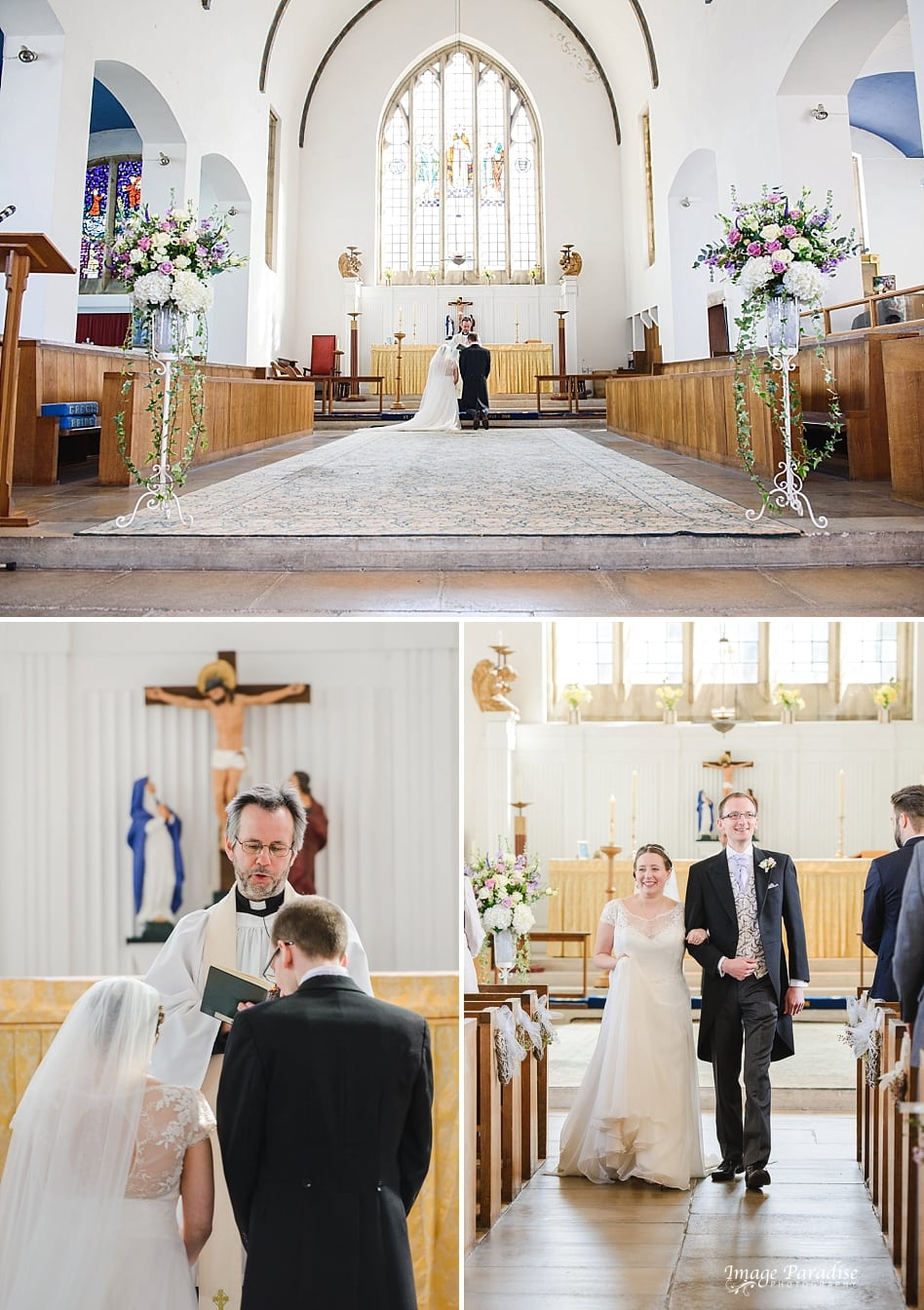 marriage blessing at St Cuthbert church Bristoll