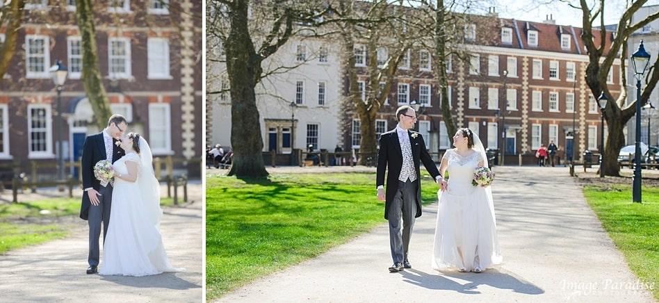 Bridal pictures at Queens square Bristol