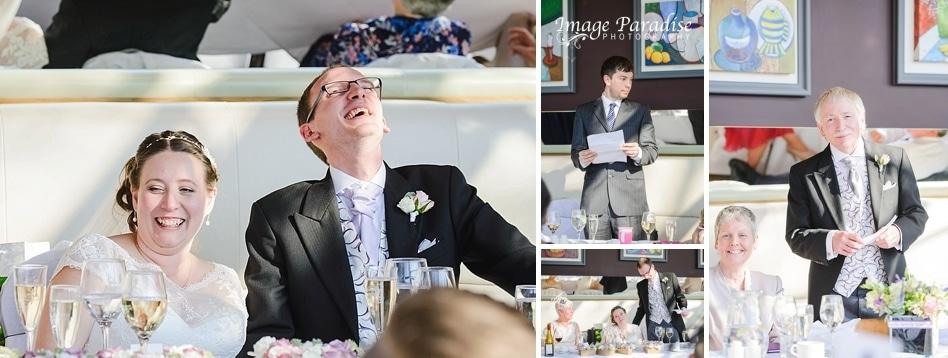 Wedding speeches at the Bristol hotel wedding reception
