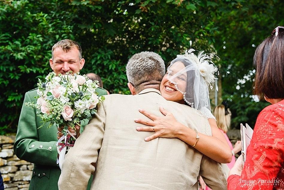 Happy bride Cotswold wedding