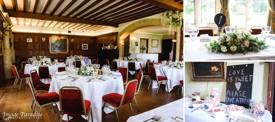 Inside Chavenage house wedding
