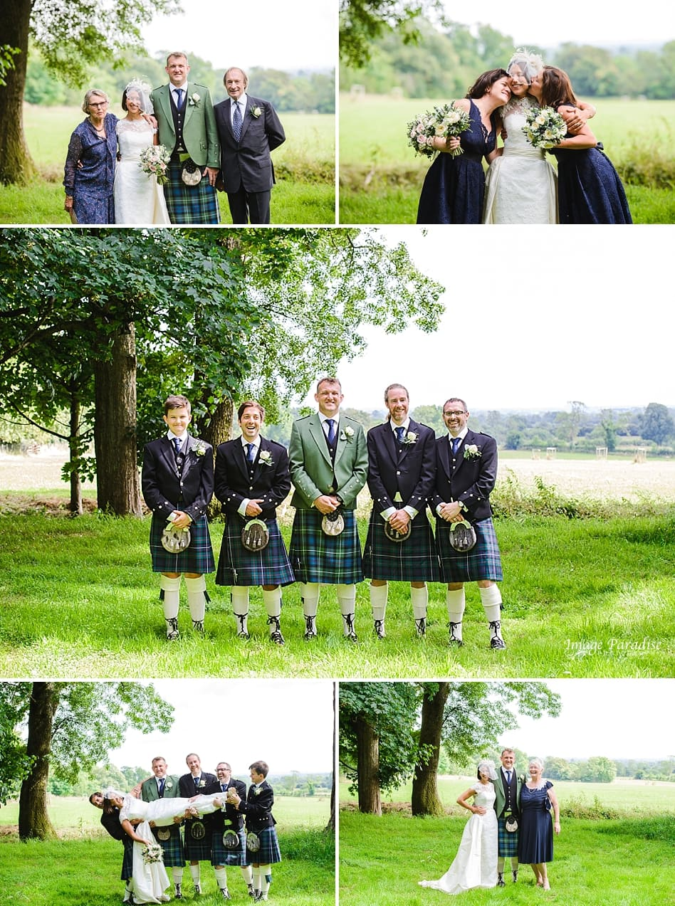 family formal photo's in the grounds of Chavenage House