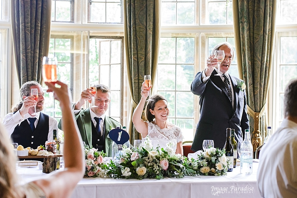 raise a glass speeches at Chavenage House
