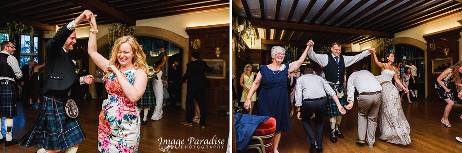 guests dancing at Chavenage House