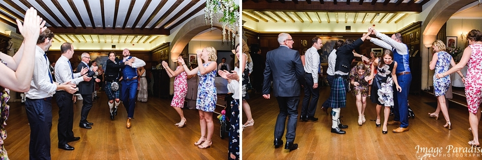 evening dancing at Chavenage House