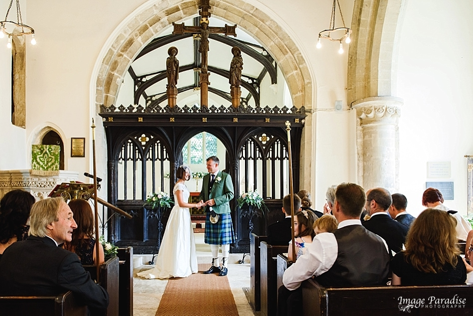 Church ceremony at St Mary the Virgin, Beverston