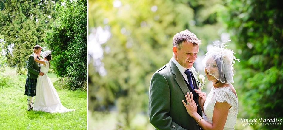 bride & groom portraits at Chavenage house