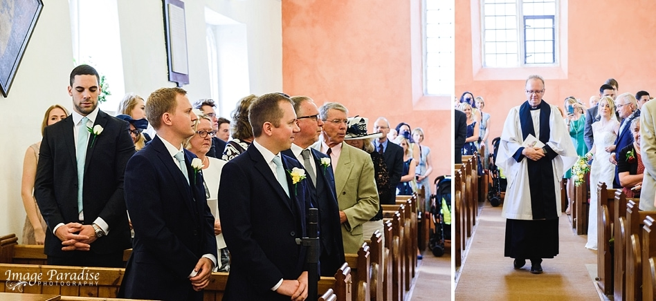 wedding service inside St Michaels church Bristol