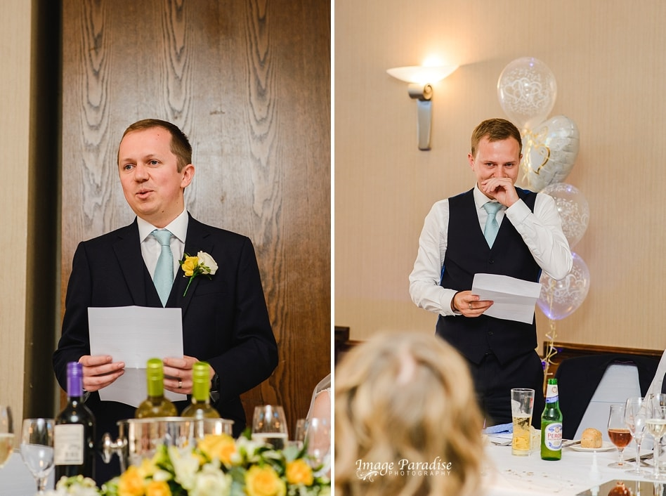 Speeches at the Aztec West hotel wedding