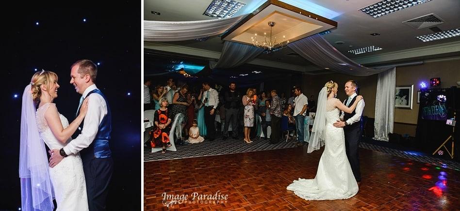 Bride & Groom First dance at Aztec West hotel wedding