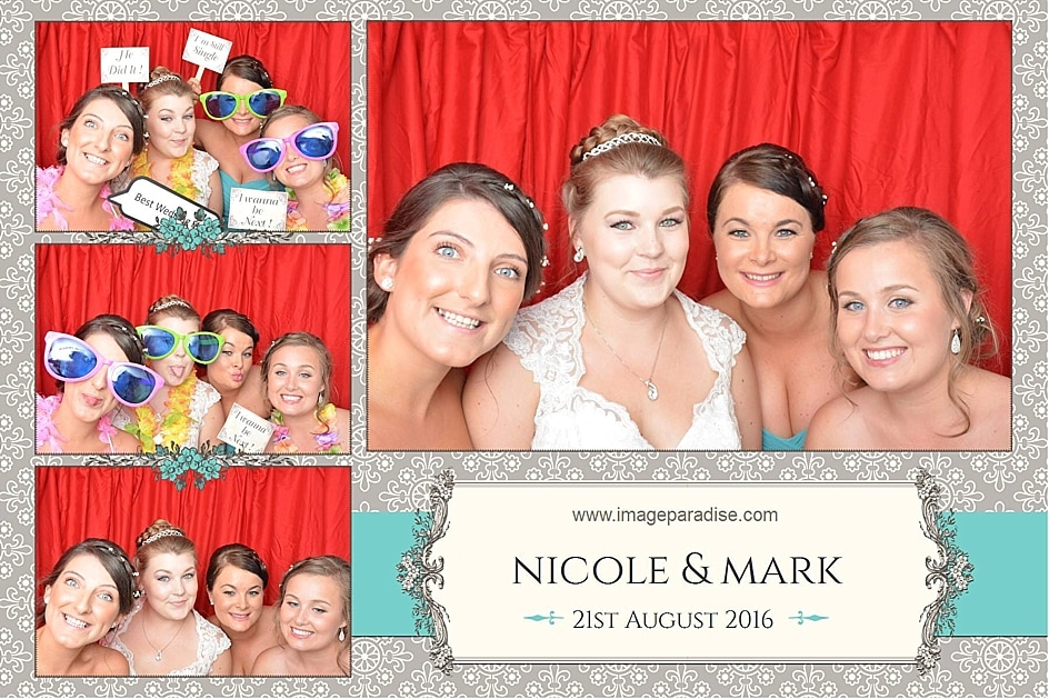 Wedding photo booth hire Bristol Bridesmaids in the photo booth