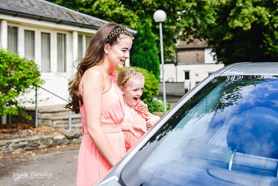 Bridesmaids reaction as bride pulls up to Mercure Bristol North