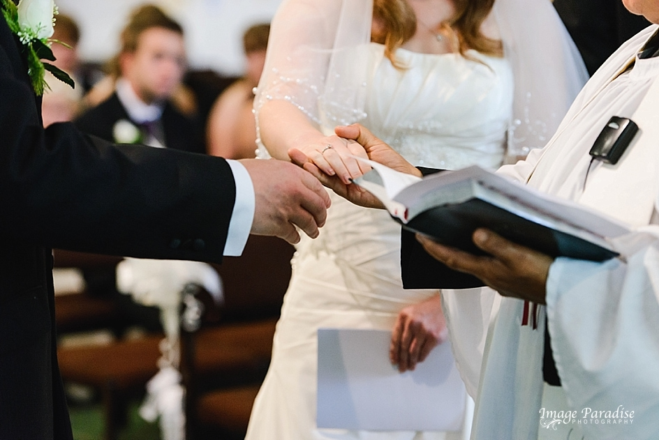 passing of the brides hand in marriage