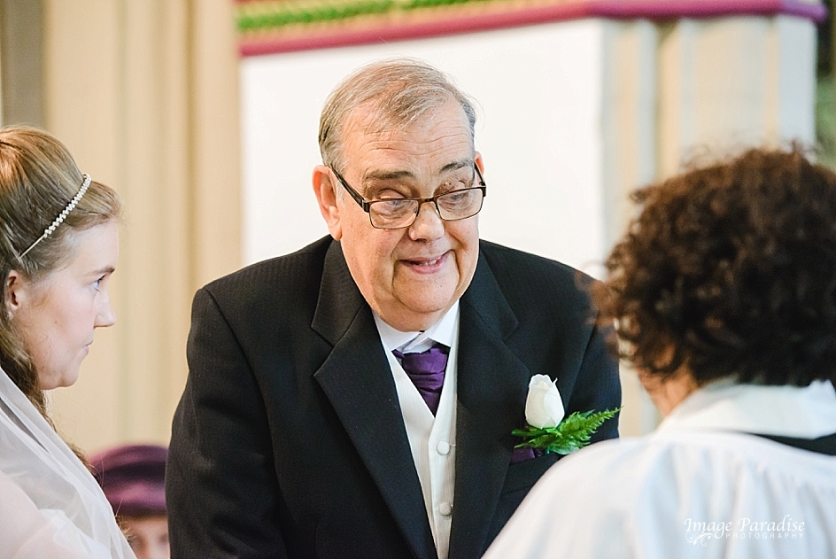 Father gives bride away at St Mary's church