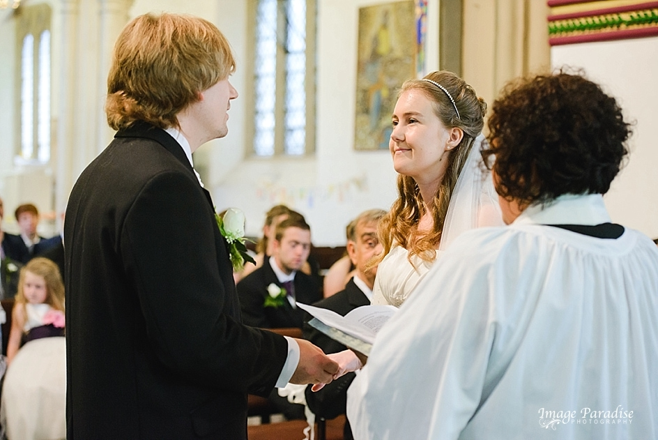 Exchange of rings at St Mary's church