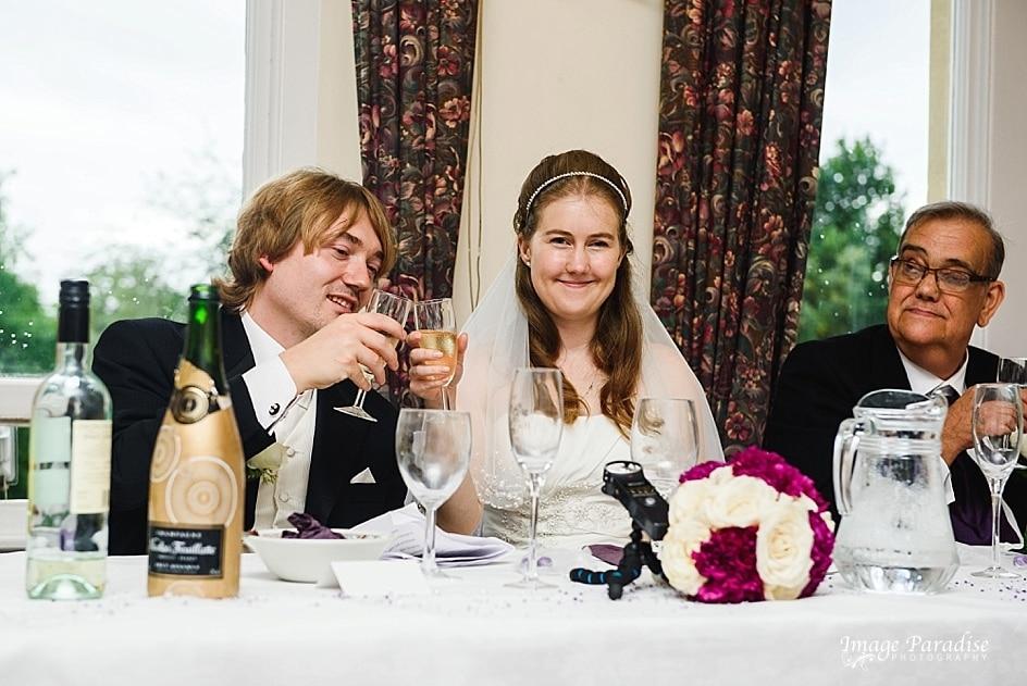 Bride & groom toast