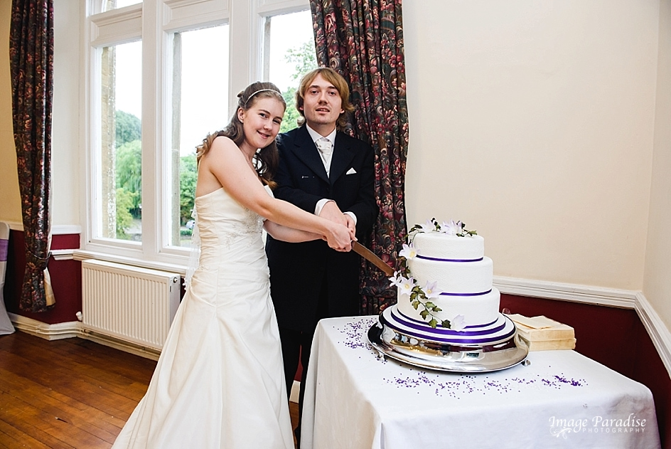 cutting of the cake at Stanshawes