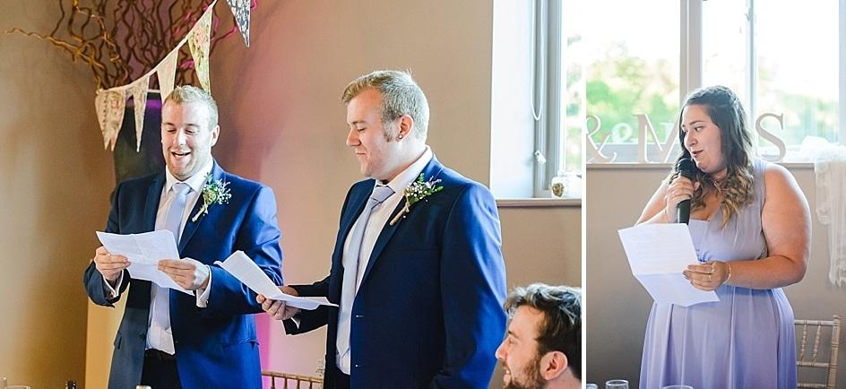 Speeches at Hyde barn wedding