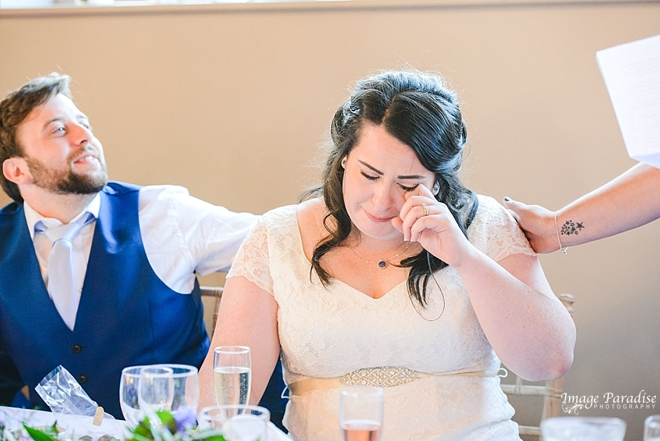 Bride crying emotional speeches