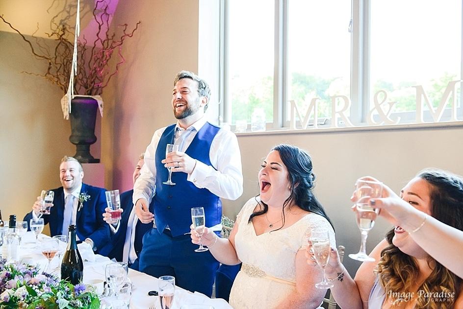 Grooms speech at Hyde barn wedding