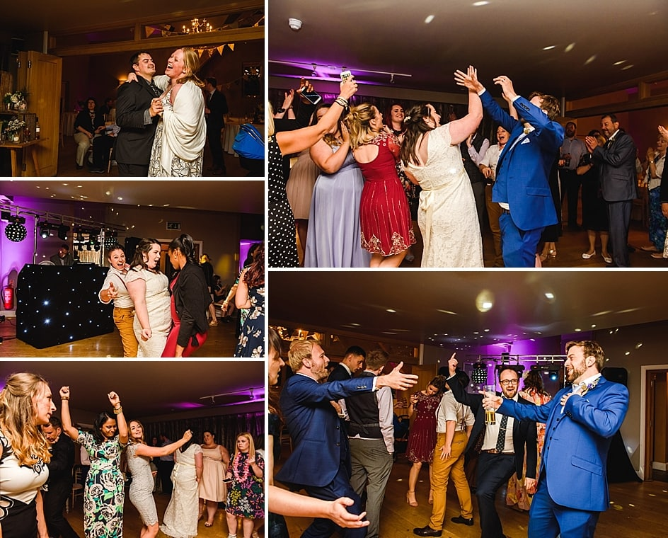 guests dancing at Hyde barn wedding