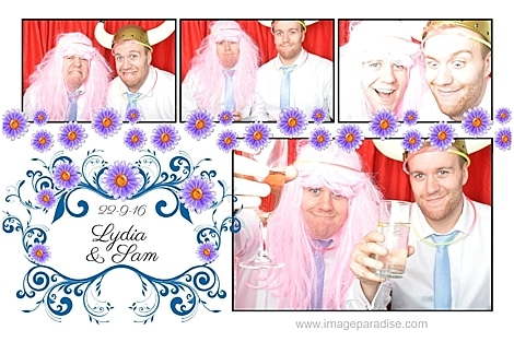 wig wearing photo booth